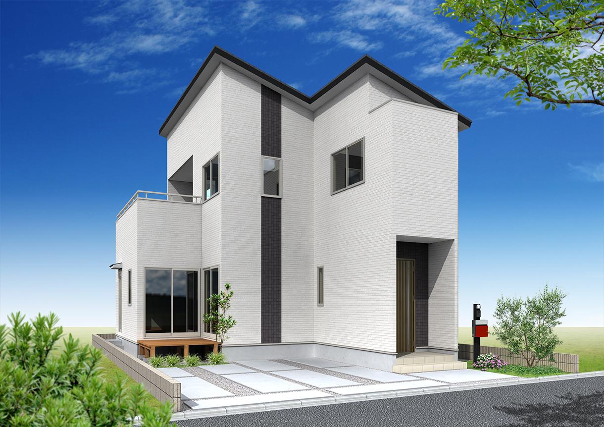 28坪新築住宅外観パース